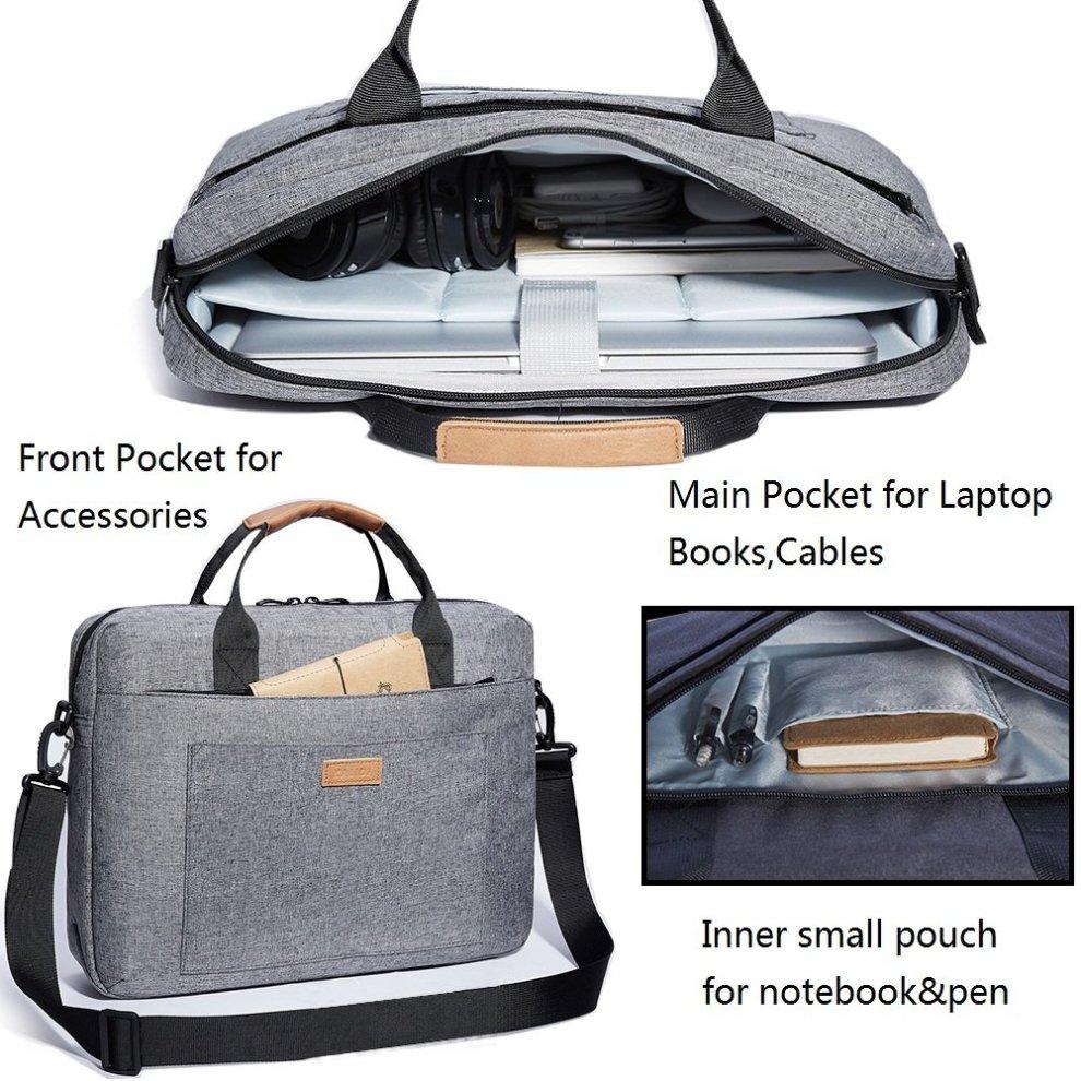 a2f043ab57cf KALIDI Laptop Bag 15.6 Inch Laptop Shoulder Messenger Bag Case Sleeve  Waterproof Shockproof for 15