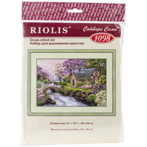 """Spring View Counted Cross Stitch Kit-15""""X10.25"""" 14 Count"""