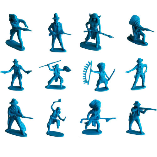 60 Pcs Toy Soldiers Gifts /Cars/Trucks /Tractors/Toy Guns Models -Blue 1:36