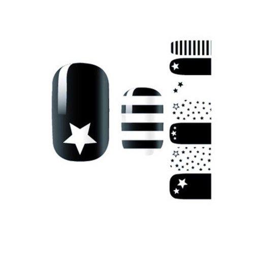 3 Pack Nail Art Stickers Nail Decoration Nail Full Wraps Black Nail Decals