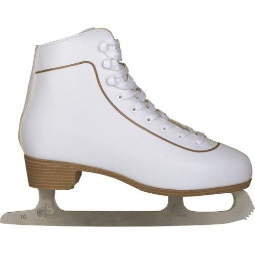Nijdam Women Figure Skates Skating Boots Classic Leather Size 39 0043-WIT-39