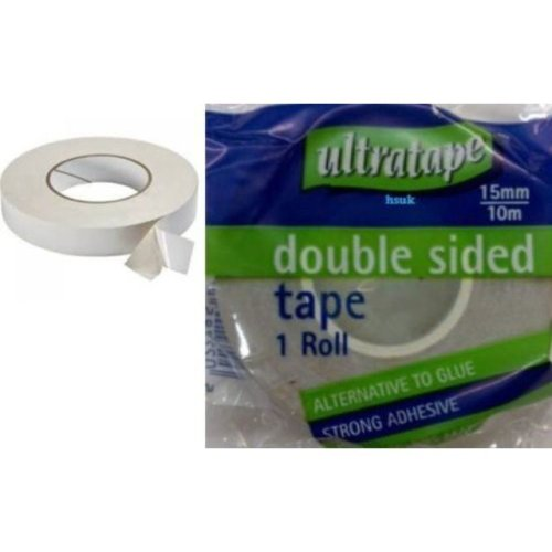 2 Rolls Of Ultratape Sellotape Clear Tape 18mm x 40m General Purpose Craft Home