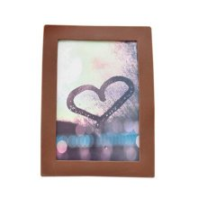 """Creative Lovely Simple Silica Gel Decor Recycle Wall Photo Frames 4*5.9"""" Coffee"""