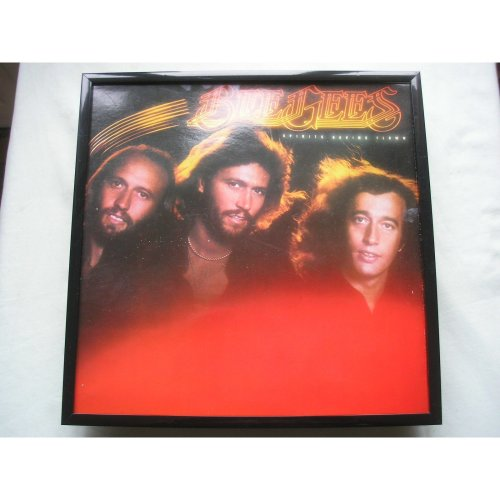 BEE GEES Spirits Having Flown LP cover framed for wall mounting BLACK