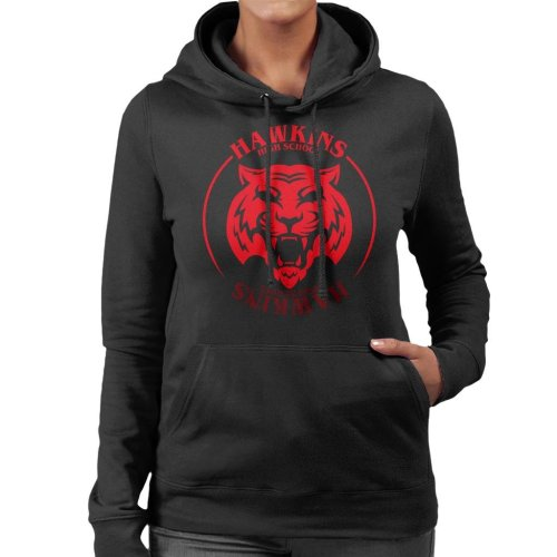 Red Tiger Hawkins High School Stranger Things Women's Hooded Sweatshirt
