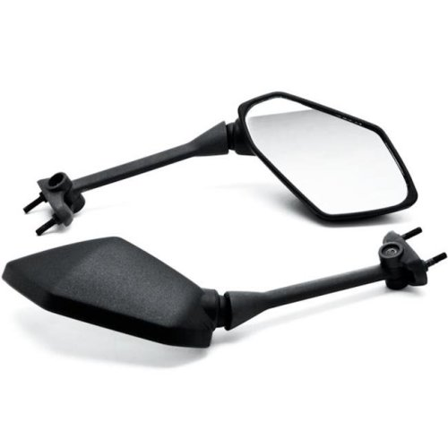 Krator KM030-B Motorcycle Mirrors for Kawasaki Ninja 650R 2009-2014 & 400R 2010-2014, Z1000 2011-2014 - Black