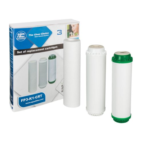 Water Cartridge Set 3x Replaceable Filters Removes Sediments Filtration System