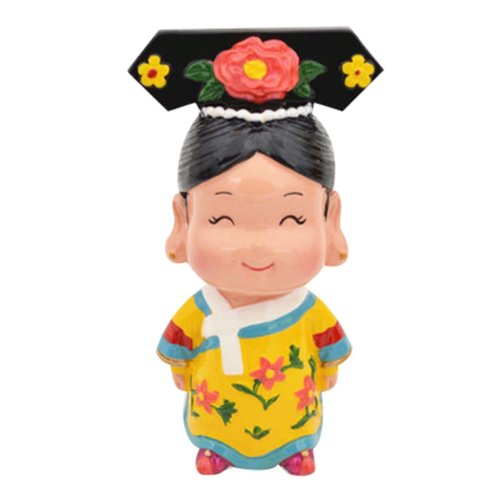 Queen Clay Figurine Doll Chinese Style Folk Art Toys Dolls
