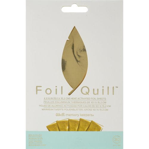 """We R Memory Keepers Foil Quill Foil Sheets 4""""X6"""" 30/Pkg-Gold Finch"""
