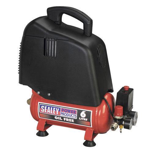 Sealey SAC00615 6ltr Oil Free Belt Drive Compressor 1.5hp