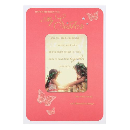 "Hallmark 25452954 Sister Birthday Card""With Love"" - Medium"