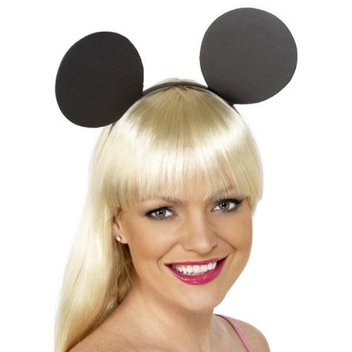 Smiffys Unisex Mouse Ears Headband