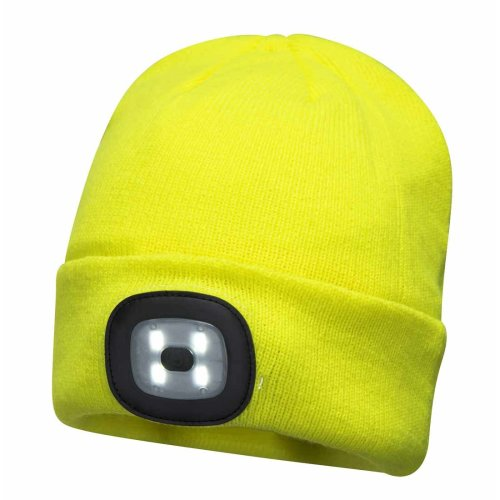 sUw - Unisex Beanie Thermal Hat With LED Head Light Torch Rechargeable Via USB