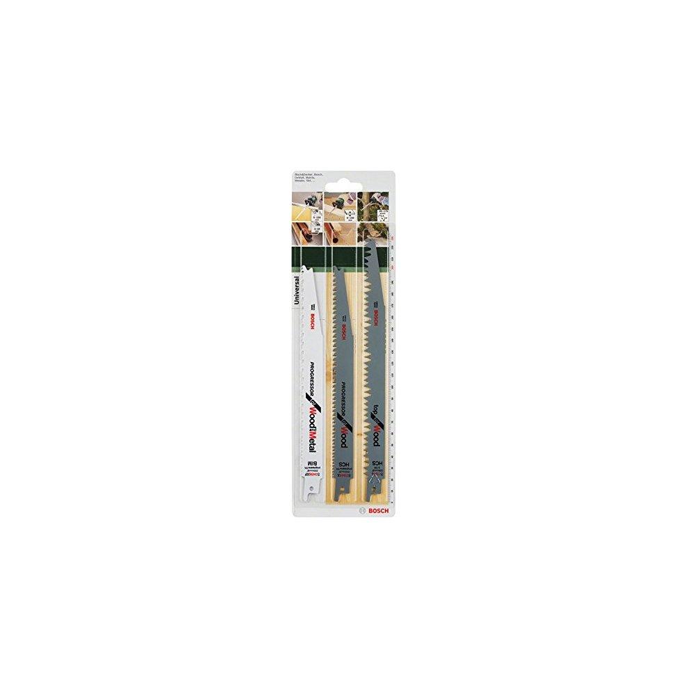 S/äbels/ägeblatt-Set Wood and Metal zum S/ägen in Holz und Metall Bosch DIY 3tlg