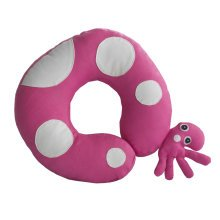 [Rose Red Octopus] Durable Handmade Neck Pillow Canvas U-shaped Travel Pillow