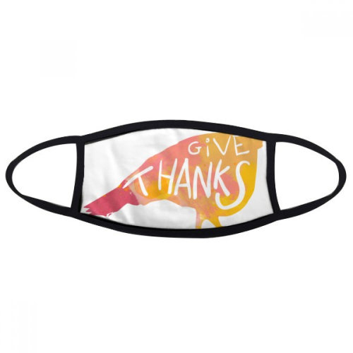 Thanksgiving Day Turkey Watercolor Face Anti-dust Mask Anti Cold Maske Gift