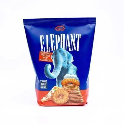 Alka Elephant Squeezed Pretzels With Pizza Taste