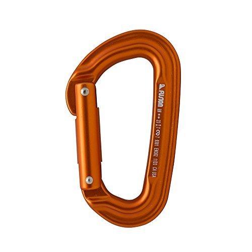 Fusion Climb Contigua Modified Straight Gate Modified D Shape Carabiner Orange