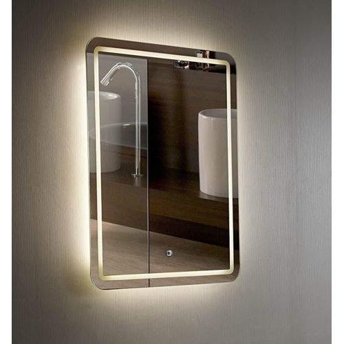 Croydex Chawston Vertical Mirror Hang 'N' Lock Illuminated, Wall Hung
