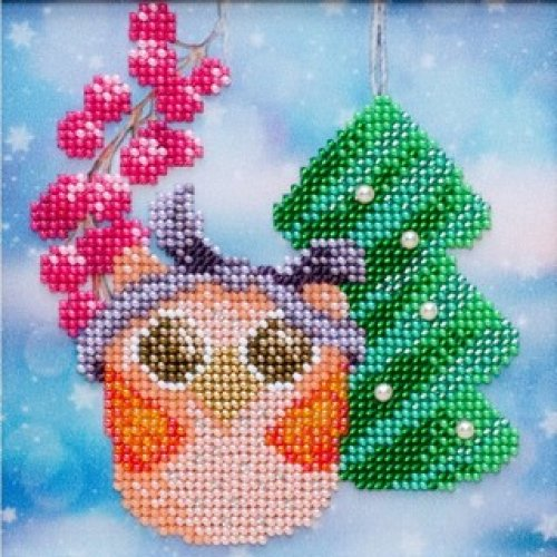 VDV Bead Embroidery Kit - Christmas Owl