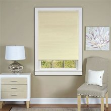 Honeycomb Cellular White Pleated Cordless Shade 31x64