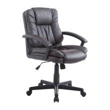 Homcom Executive Office Chair PU Leather Swivel Height Adjustable (Brown)