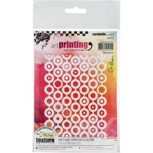 Carabelle Studio Art Printing A6 Rubber Texture Plate-Effet Disco
