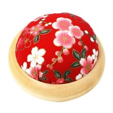 Set of 2 Pin Cushions for Sewing with Wood Base - 02