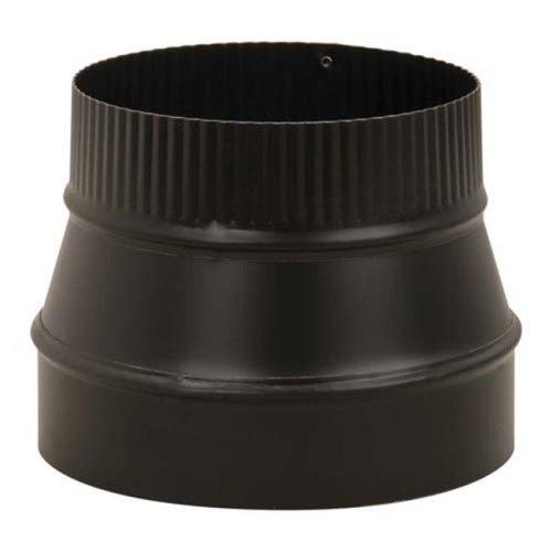 "Imperial BM0075 5"" x 6"" Stove Pipe Reducer - Black"