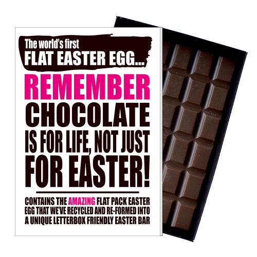 Funny Flat Easter Egg Chocolate Bar Greeting Card Gift Boyfriend Girlfriend UK