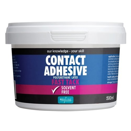 Polyvine ACA500 Contact Adhesive Solvent Free Fast Tack 500ml