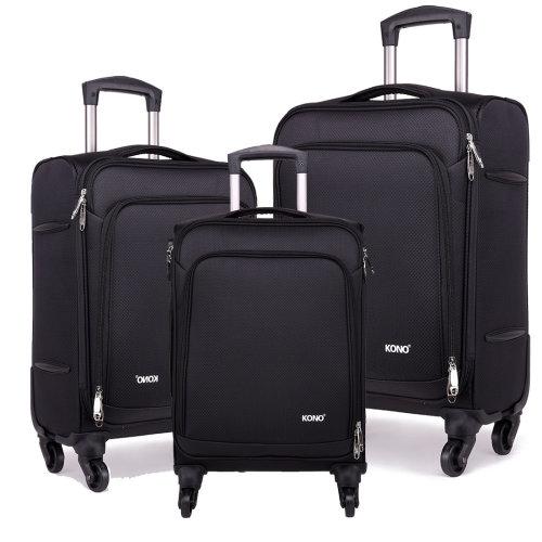 KONO Luggage Suitcase 20 24 28 Inch Set Nylon