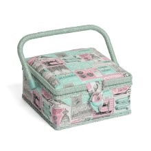 Hobbygift Classic Sewing Basket - Notions - 20cm x 20cm x 11cm