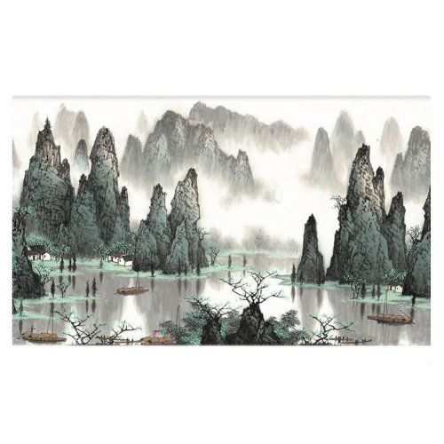 Home Creative 50-Inch TV Cloth Decorative Dustproof Cover, Mountains