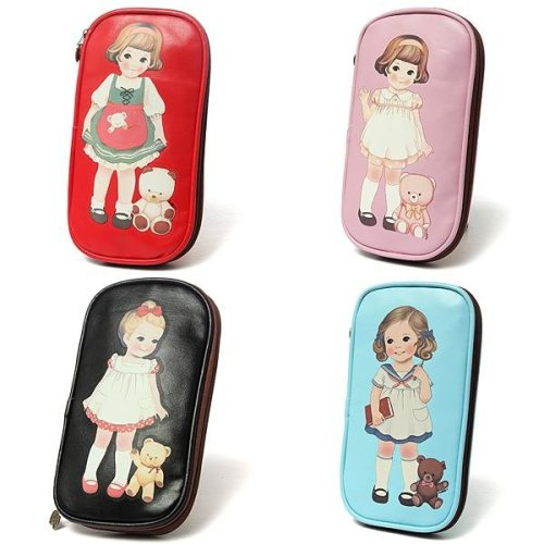 Cute Little Girl Pencil Case Bag Stationery Cosmetic Bags