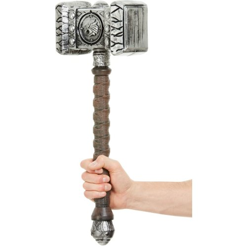 Silver Hammer Halloween Accessory Fake Weapon Prop