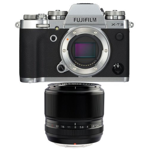 FUJI X-T3 Silver + XF 60MM F2.4 R Black
