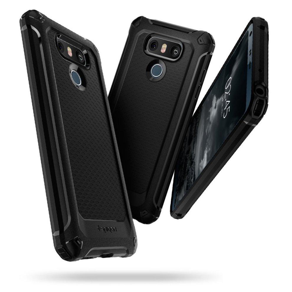 info for 70da1 9bb74 Spigen LG G6 Rugged Armor Extra Case - BLACK