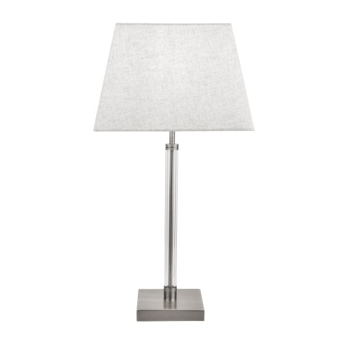 Searchlight Siena Table Lamp With Clear Cyclinder Frame Satin Nickel