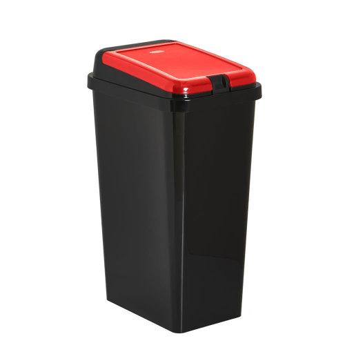 (Red) Touch Top Kitchen Bin | Multipurpose Kitchen Bin