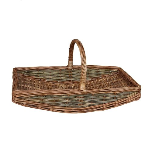 Small Unpeeled Willow Garden Trug Basket
