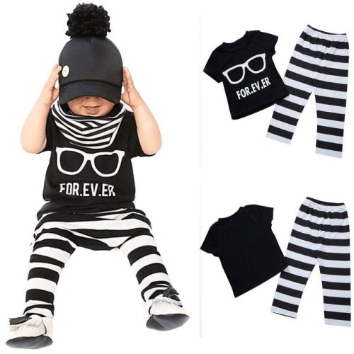 Newborn Baby boys Girls clothes set Toddler Baby Infant Boys Girls Outfit T-shirt Tops+Pants Clothes 2 piece set Drop ship