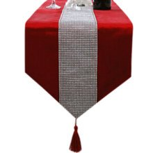 13*71 Inch, Luxury Table Runner Home Decor Bed Runner Table Cloths Red