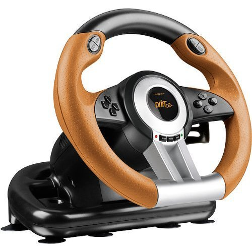 SPEEDLINK Drift O.Z. Racing Wheel for PC/PS3, Black/Orange (SL-4495-BKOR)