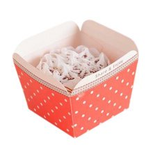 100 PCS Creative Cake Baking Paper Cups Muffin cups Square Mould Cup Cupcakes Cases D