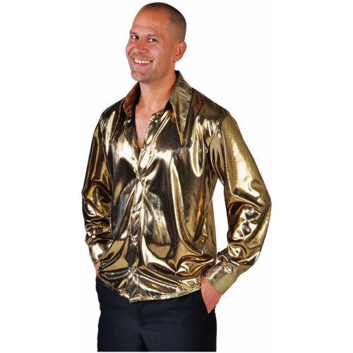Metallic Gold Disco Shirt