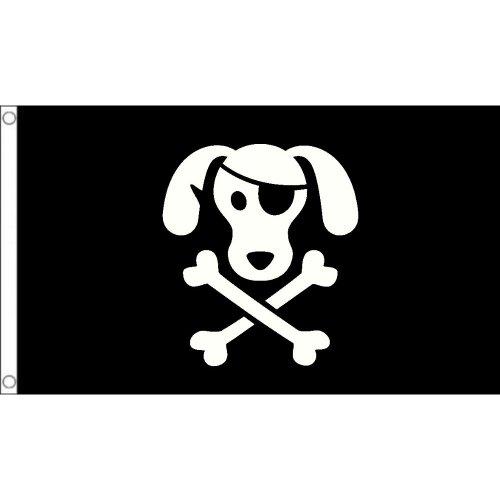 Dog pirate logo Flag  Size: 5 x 3 FT ( 150cm x 90cm)