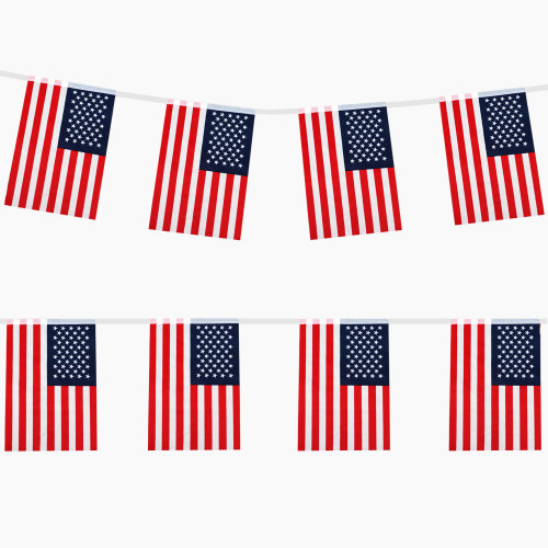 4473a39da30 TRIXES 9M Stars and Stripes USA Flag Rectangular bunting on OnBuy