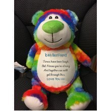 Rainbow Bear - Personalised With Message, Name or Birth Date