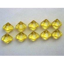 Chessex Translucent Yellow/white 10 x D10 Set
